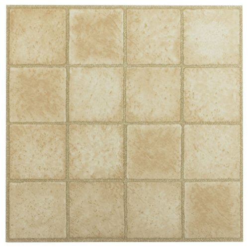 Achim Home Furnishings FTVGM30820 Nexus 12-Inch Vinyl Tile, Geo 16 Square San