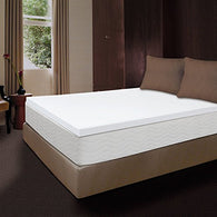 2 inch Memory Foam Mattress Topper, QUEEN