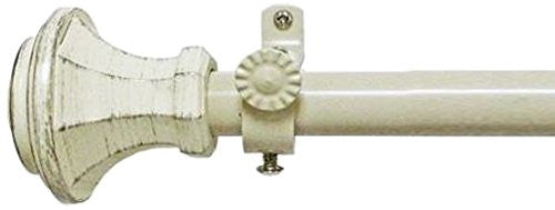 Achim Home Furnishings Buono II Rod with Carson Finial, 66-Inch Extends to 120-Inch