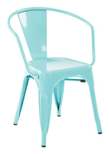 "30"" Metal Chair In Mint Finish (2-Pack)"