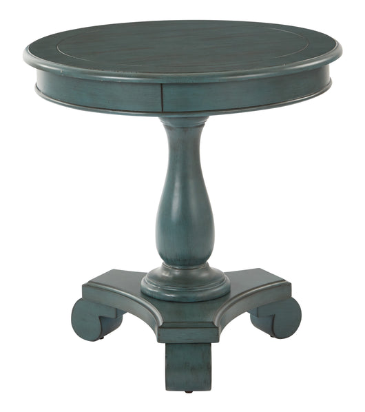 INSPIRED by Bassett BP-AVLAT-YM21-osp Avalon Round Accent Table, Caribbean Finish