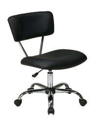 AVE SIX Vista Task Office Chair, Black Vinyl