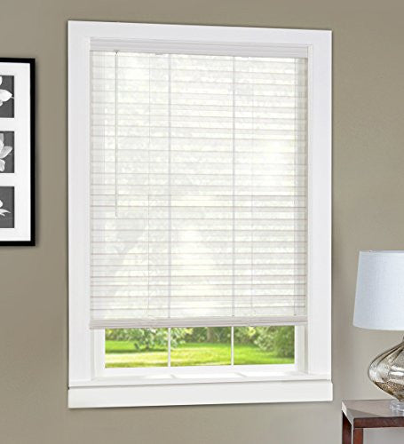 Achim Home Furnishings Light Vane 2-Inch Slat Blind, 23 by 64-Inch, White