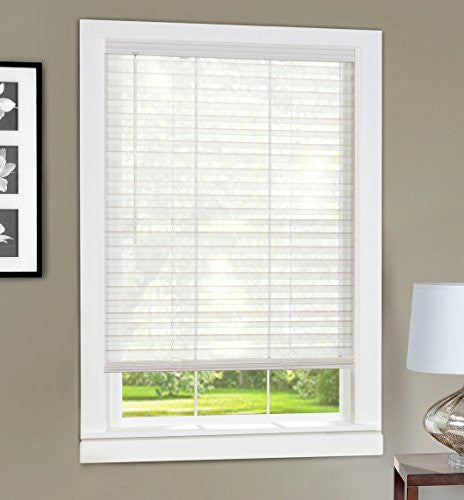 Achim Home Furnishings Light Vane 2-Inch Slat Blind, 29 by 64-Inch, White