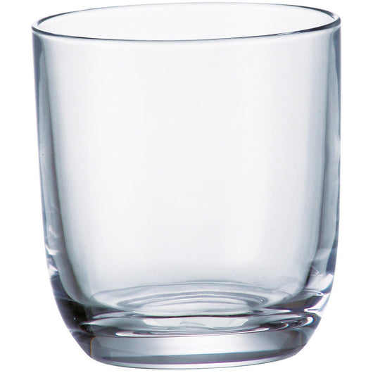 Majestic Gifts High Quality European Crystalline Double Old Fashioned Tumbler Glasses (Set of 6), 9.5 oz, Clear