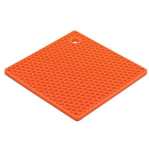 HIC Brands That Cook The Essentials Cantaloupe Honeycomb Silicone Trivet, 7-Inch, Light Orange