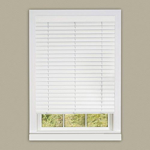 Achim Home Furnishings Luna 2-Inch Vinyl Slat Venetian Cordless Blind with Valance, 27 by 64-Inch, White
