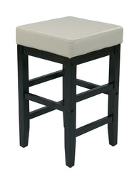 Avenue 6 Office Star ES25VS3CM 25 in. Square Stool - Cream