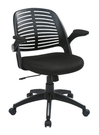 AVE SIX Tyler Office Chair with Arms and Black Frame, Black