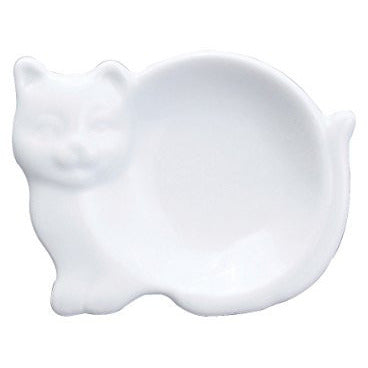 Harold Import Company Cat-Shaped Tea Bag Holder and Resting Caddy, 3.75