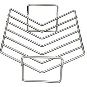 HIC Pro V-Shaped Wire Roasting Baking Broiling Rack, 15-Inches x 11-Inches x 4-Inches