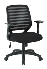 Work Smart EM22822-F3-osp Screen Back Task Chair, Black