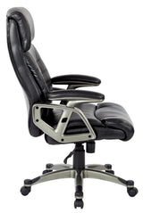 Work Smart ECH70537-EC3-osp Executive Bonded Leather Chair, Black