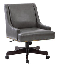 INSPIRED by Bassett BP-EVREX-BD26-osp Everton Office Chair, Bonded Pewter