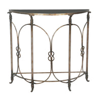 Bordeaux Demilune Accent Table