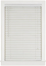 Achim Home Furnishings Luna 2-Inch Vinyl Blind, 32-Inch by 64-Inch, White