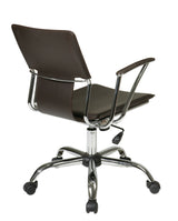 AVE SIX Dorado Contour Seat and Back with Built-in Lumbar Support Adjustable Office Chair, Espresso
