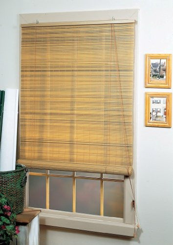 Achim Home Furnishings Eclipse 1/4-Inch Oval Roll Up Shade, 72-Inch by 72-Inch, Wood
