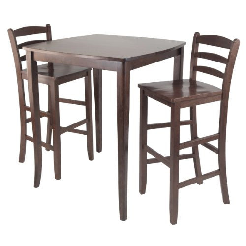 3-Pc Inglewood High/Pub Dining Table with Ladder Back Stool