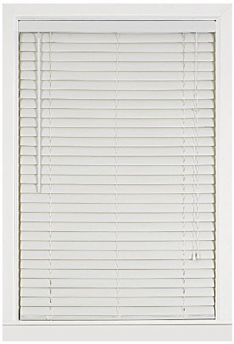 Achim Home Furnishings Luna 2-Inch Vinyl Blind, 48-Inch by 64-Inch, White