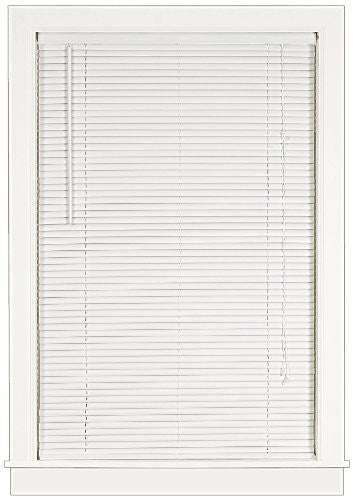 Achim Home Furnishings Deluxe Sundown 1-Inch Blind, 35-Inch by 64-Inch, White