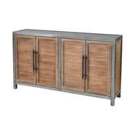 Badlands 4-Door Cabinet in Drifted Oak and Aged Iron