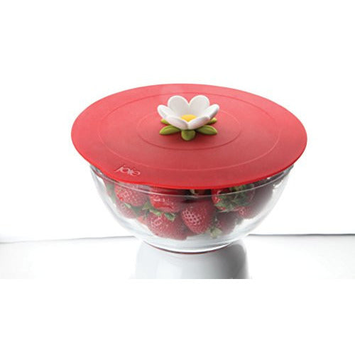 MSC International Joie Large Bloom Reusable Suction Cooking Cover and Food Storage Lid, Flower, 11.5