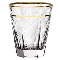 Carre Tumbler Dof 34Cl With Gold Rim Set Of 6