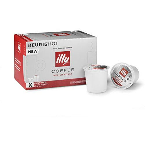 illy K-Cup Pods, Medium Roast, 10 Count