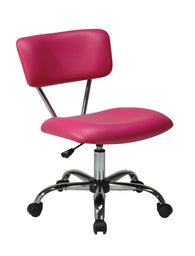 AVE SIX Vista Task Office Chair, Pink Vinyl