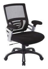 Work Smart EMH69176-3-osp Mesh Back Manager's Chair, Black