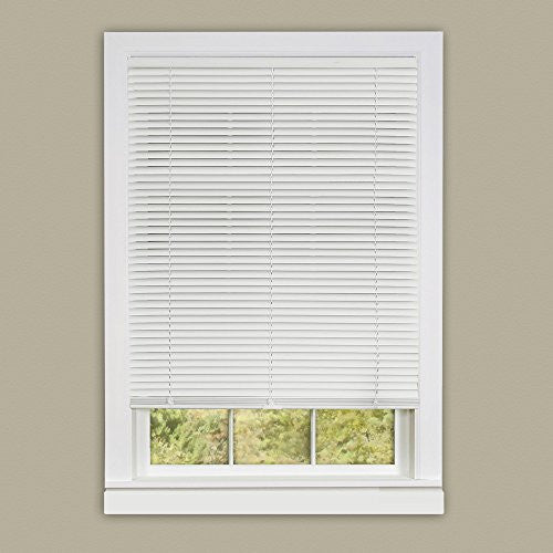 Achim Home Furnishings 30 by 64-Inch Deluxe Sundown 1-Inch Slat Room Darkening Blind, Mini, White