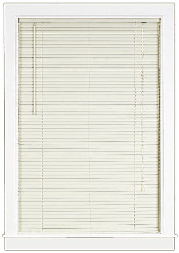 Achim Home Furnishings Deluxe Sundown 1-Inch Blind, 34-Inch by 64-Inch, Alabaster
