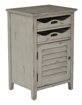 Charlotte Chair Side Table in Grey Finish, Fully Assembled