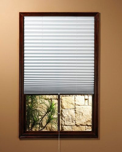 Achim 054006101681 1-2-3 Shade Vinyl Room Darkening Temporary Pleated Shades