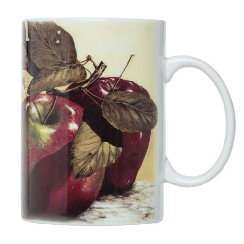 MUG APPLES 16OZ SET/4