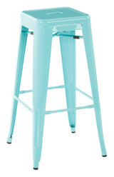"30"" Steel Backless Barstool in Green Finish (4-Pack)"