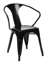 "30"" Metal Chair (4-Pack) (Black)"