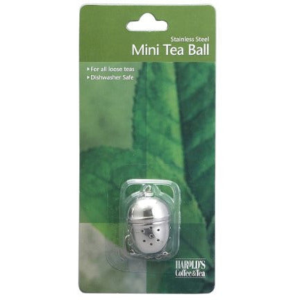 HIC Loose Tea Leaf Mini Tea Ball and Herbal Infuser, 18/8 Stainless Steel, Pierced Tea Ball, 1.25-Inch x 1.5-inch
