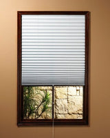 Achim 54006101698 1-2-3 Shade Vinyl Room Darkening Temporary Pleated Shades