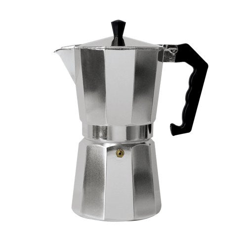 Primula Aluminum Espresso Maker - Aluminum - For Bold, Full Body Espresso - Easy to Use - Makes 3 Cups