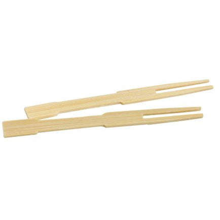Helen Chen's Asian Kitchen Mini Bamboo Appetizer Cocktail Forks and Buffet Party Fruit Picks, 3.5-Inches, 72-Pieces