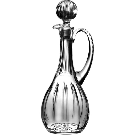 Majestic Gifts 46-Ounce Hand Cut Crystal Oversized Wine Decanter with Handle, X-Large, Clear, Joy