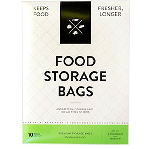 Formaticum Reusable Food Storage Bags, Made in Italy, Pack of 10, 14-Inch x 10-Inch