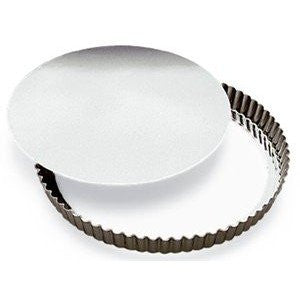 SCI Scandicrafts 11-inch Fluted Tart/Quiche Pan with Removable Bottom, Tinplate