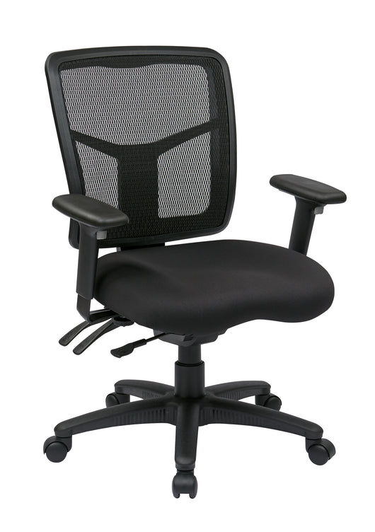 Office Star High Back ProGrid Back FreeFlex Seat with Adjustable Arms and Dual Function, Black Managers Chair