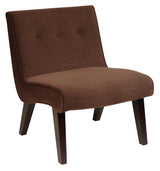 AVE SIX Curves Valencia Accent Chair in Velvet, Chocolate
