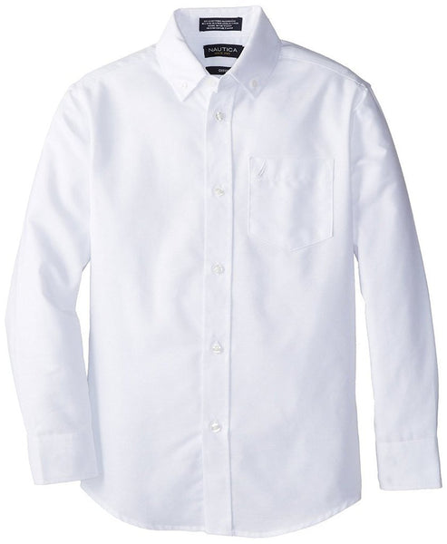 Nautica Boys' 8-20 Long-Sleeve Button Down Oxford Dress Shirt