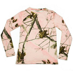 Women's long-sleeve pink camo camouflage Realtree shirt