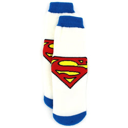 Boys white and blue socks with Superman logo